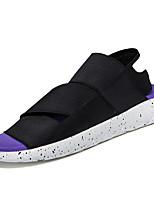 Zapatos de Hombre-Sandalias / Chanclas-Casual-Sintético-Negro / Morado / Negro y Blanco