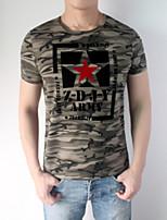 JoanneKitten Star Men's Short Sleeve T-Shirt, Cotton / Spandex Casual / Sport / Plus Sizes Print