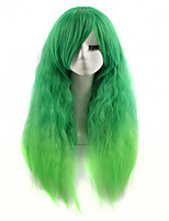 Hot Style Colorfully Synthetic Top Quality Natrual Wave Multi-color Wigs