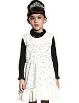 Girl's Pink / Red / Beige Dress Cotton Winter