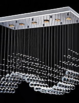 50W Contemporaneo Cristallo Galvanizzato Metallo Luci Pendenti Salotto / Camera da letto / Sala da pranzo