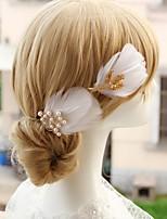 Damen / Blumenmädchen Kopfschmuck Hochzeit / Besondere Anlässe Haarklammer Feder / Legierung / Künstliche PerleHochzeit / Besondere
