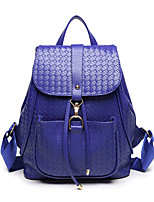 Women PU Bucket Backpack / School Bag / Travel Bag-Blue / Gold / Red / Black