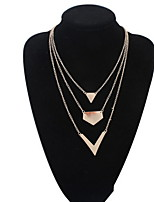 Sunshine Fashion Jewelry Collar Necklace Metal Multilayer Chain Tassel Choker Bib False Gold Silver Necklace Women