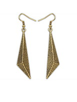Women Statement Irregular Geometric Alloy Drop Earrings Gold Ear Hook