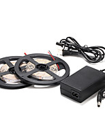 5M 60×2835SMD Red/Blue LED Strip Light and 12V Power Supply