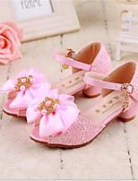 Girls' Shoes Dress Open Toe PU Sandals Pink / White