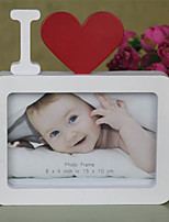 I Love You Photo Frame Red Heart Shaped With One Picture 6x4