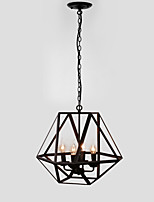 40W Pendant Light ,  Rustic/Lodge Painting Feature for Candle Style Metal Dining Room / Study Room/Office / Game Room / Garage