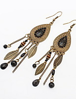 HOT Sale Metal Alloy Silver and Mix Colors Statement Leaf Earrings for Women Bohemia Style