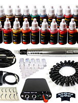 Solong Tattoo Rotary Tattoo Machine & Permanent Makeup Pen 50 Needle Cartridges Ink Set Power Supply Foot Pedal  EK103-6