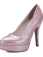 Scarpe Donna-Scarpe col tacco-Ufficio e lavoro / Formale / Casual-Tacchi / Plateau / A punta-A stiletto-Di pelle-Verde / Rosa / Grigio /