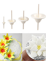 Sugar Fondant Flowers Die Tools Accessories Lily Flower Pin Receptacle Cake Decorating,Set of 4