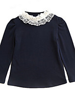 Girl's Blue / Pink Blouse,Lace Others Spring / Fall