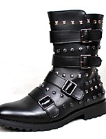 Men's Shoes Wedding / Outdoor / Office & Career / Party & Evening / Dress / Casual Synthetic Boots Black