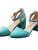 Women's Shoes Synthetic Chunky Heel Heels Heels Party & Evening / Dress Black / Blue / Green / Red
