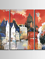 Hand-Painted Abstract Style / Modern Oil Painting for living room ,Three Panels