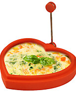 SiliconeHeart-shaped Shape Egg Ring and Pancake Maker Egg Fried Frying Pancake Cooking Mould(Random Color)