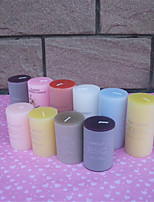 2pcs/Set,7.5 x 10CM 5.5*7.5CM SmoCylindrical Night Candle Home Decorative Art Candle Color Romantic Wedding Random Color