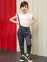Girl's Gray Pants,Dresswear Cotton Summer / Spring / Fall