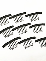 Wig Accessories Hair Wig Combs and Clips For Wig Cap Black Color 20 pcs/Lot Lace Wig Making Combs and Clips For Wig Cap