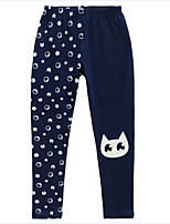 Girl's Blue / Pink Pants,Cartoon Cotton Spring / Fall
