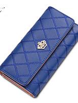 Bolso de Mano / Cartera / Portatarjetas / Monedero / Titular de la tarjeta de visita-Triple Pliegue-PU-Rosa / Morado / Azul / Amarillo /