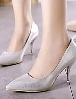Chaussures Femme-Mariage / Soirée & Evénement-Argent / Or-Talon Aiguille-Talons-Talons-Similicuir