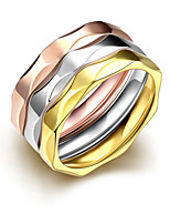 2016 3pcs Luxury Noble Ripple Style  3 Color Titanium Steel Fashion Ring Set