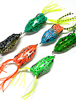5.5cm 12.5g/PC Soft Plastic Simulation Ray Frogs Hooks snakehead Killer Fishing Lures 6 Colors