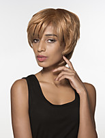 jeune main courte ligne droite capless cheveux remy liée perruque de femme top