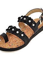 Women's Shoes Platform Toe Ring / Comfort Sandals Dress / Casual Black / Blue / Pink / White