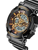 Montre de sport Hommes / Unisexe LED / Etanche / Chronomètre / Noctilumineux Quartz Japonais Numérique bracelet