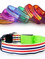 Gatos / Perros Collares Rojo / Blanco / Verde / Azul / Rosado / Amarillo / Naranja Invierno / Verano / Primavera/Otoño Un Color Moda / LED