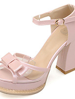 Women's Shoes Chunky Heel/Platform/Open Toe Heels Sandals Party & Evening/Dress Blue/Pink/Purple/White