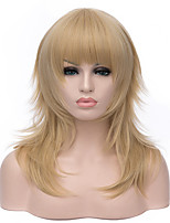 Top Quality Long Length Straight Hair European Weave Light Blonde Hair Synhteitc Wig