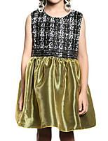 Girl's Dress,Polyester Spring / Fall Green / Purple