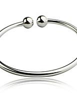 Women's Cuff Bracelet Sterling Silver Non Stone