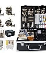 Basekey Tattoo Kit 4 Guns JHK0174  Machine With Power Supply Grips Cleaning Brush Ink Needles