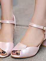 Women's Shoes Chunky Heels/Open Toe Sandals Office & Career/Dress Blue/Pink/White