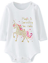 Girl's White Overall & Jumpsuit,Cartoon Cotton Spring / Fall