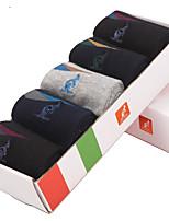 L'ALPINA® Men's Solid Color Medium 5/box Socks-31141