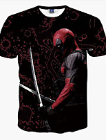 3D Deadpool Super Heroes Male As Picture Cosplay Cosplay Costumes T-shirt