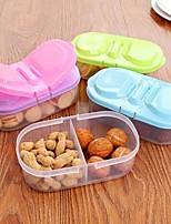 1Pcs Bunk Double Open Plastic Kitchen Food Cereal Grain Bean Fridge Storage Container(Random Color)