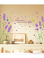 Lavender Bedroom  Background Wall Stickers Romance / Florals / Landscape Wall Stickers Plane Wall Stickers,pvc 50*70cm