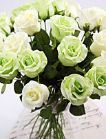 A Branch PU Roses Artificial Flowers Wedding Flowers Multicolor Optional 1pc/set