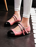 Women's Shoes Leatherette Low Heel Heels Flats Outdoor / Office & Career / Party & Evening Pink / White