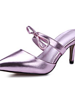 Women's Shoes Patent Leather Stiletto Heel Pointed Toe Sandals Dress Black / Pink / Silver / Gold