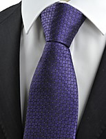 New Purple Checked Mens Tie Necktie Formal Wedding Party Holiday Prom Gift KT0054