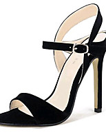 Women's Shoes Fleece Summer Heels Party & Evening Stiletto Heel Buckle Black / Almond